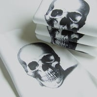 Skull Printed Cloth Napkins - Set of FOUR