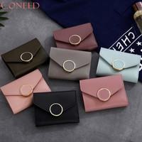 Fashion Wallets Charming Nice CONEED Women Simple Short Wallet Hasp Coin Purse Card Holders Handbag May22 Y30