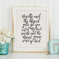 SHAWN MENDES QUOTE, Needle And The Thread, Inspirational Quote,Girls Room Decor,Song Lyrics,Quote Prints,Nursery Girls,Quote Print,Wall Art