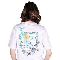 Mermaid Tee in White by Krass and Co.