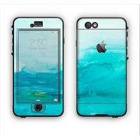 The Grungy Blue Watercolor Surface Apple iPhone 6 LifeProof Nuud Case Skin Set