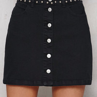 PacSun Studded Denim Mini Skirt at PacSun.com