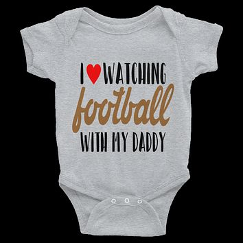 I Love Watching Football With My Daddy Onesuit