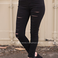 It's A Hipster Life Distressed Jeans (Black)