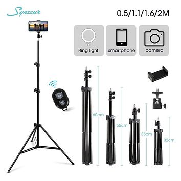 0.5/1.1/1.6/2M Adjustable Selfie Stick Tripod 1/4 Screw Tripod For Phone Camera Ring Light Stand Universal Stand Phone Holder