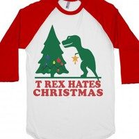 White/Red T-Shirt | Funny Dinosaur Holiday Shirts