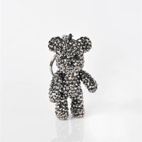 Ted The Silver Bear Key Chain - Silver at Necessary Clothing
