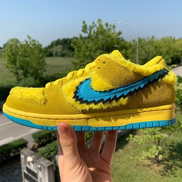 GRATEFUL DEAD x NIKE DUNK LOW SB'YELLOW BEAR' casual sports running shoes