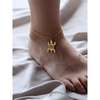 Stainless Steel Tortoise Drop Anklet