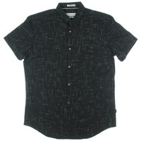 Calvin Klein Mens Pattern Short Sleeves Button-Down Shirt
