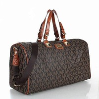 Samplefine2 MK MICHAEL KORS Classic Popular Women Leather Multicolor Luggage Travel Bags Tote Handbag Coffee I-MYJSY-BB