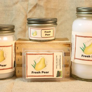 Fresh Pear Candle, Scented Candles and Wax Melts, Highly Scented Fruit Candles and Wax Tarts, Fresh Scent Summer Candle