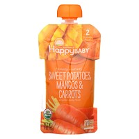 Happy Baby Organic Baby Food - Sweet Potato - Mango - Carrots - Case Of 16 - 4 Oz