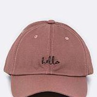 Pink Embroidered Cap