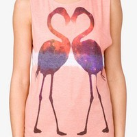 Mirrored Flamingo Muscle Tee | FOREVER 21 - 2021405385