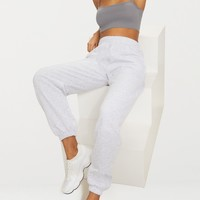 Ash Grey Casual High Waisted Jogger