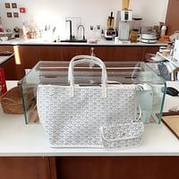 Goyard Women's Leather Shoulder Bag Satchel Tote Bags Crossbody