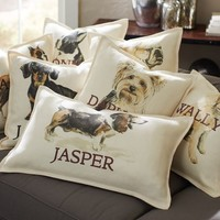 PERSONALIZED DOG PILLOW COVERS