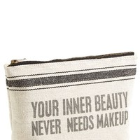Primitives by Kathy 'Your Inner Beauty Never Needs' Cosmetics Case