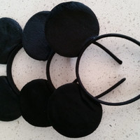 Solid black mickey mouse ears