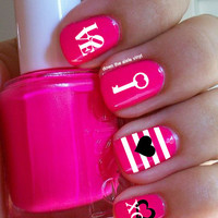 Valentines Day Nail Decals - Set of 60