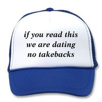 Relationship hat from Zazzle.com