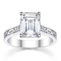 14k White Gold 1 2/5ct TDW Diamond Engagement Ring (H-I, VS1-VS2) | Overstock.com