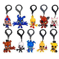"""So hot!!!fnaf officially licensed 5 nights at freddys 3"""" figure hangers set of 10 toys includes:chase piece """"golden freddy"""" five nights"""