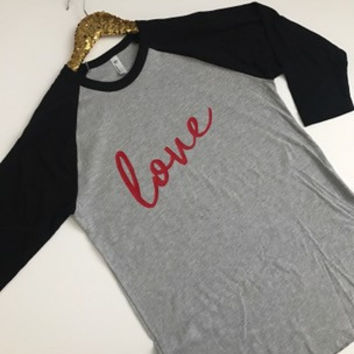 Love Raglan - Valentines - Jersey Shirt - Ruffles with Love