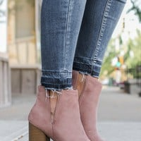 London Fog Booties - Blush