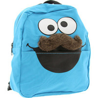 Sesame Street Cookie Monster Mustache Mini Backpack (blue) Accessories BP156704SES0 | PickYourShoes.com