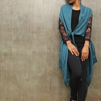 First impression...Azure Mixed silk funky overlay dress (one size fits all)