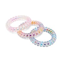Holographic Spiral Hair Ties
