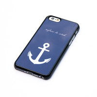 Refuse To Sink Navy Blue Anchor iPhone 6 Case Wood Aztec Wooded Native iPhone Case