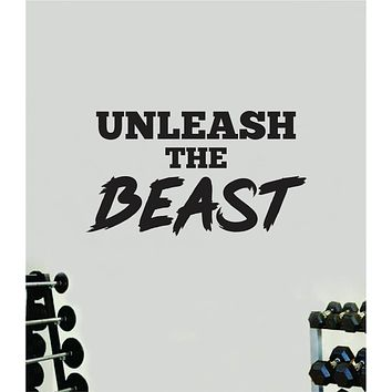 Unleash The Beast V2 Quote Wall Decal Sticker Vinyl Art Home Decor Bedroom Boy Girl Inspirational Motivational Gym Fitness Health Exercise Lift Beast