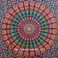 Mandala Tapestries Wall Hanging Hippie Wall Tapestry Indian Tapestries For Dorms Bedding Decor - Bohemian Tapestries Beach Blanket Throw (60x90 inches)