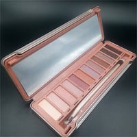 New 12 Color Women Eyeshadow Palette Shimmer Earth Colors Cosmetics With Brush Set Long-lasting Nude Eyeshadow Makeup I019