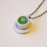 GREEN LIME TEA - necklace / pendant