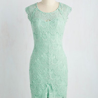 Game of Glam Dress in Pistachio