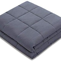 """Amy Garden Weighted Blanket (36""""x48"""", 5 lbs for 40-50 lbs Kids, Grey) 