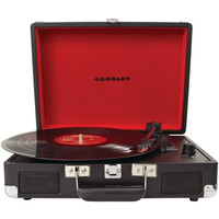 CROSLEY RADIO CR8005A-BK Cruiser Portable Turntables (Black)