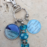 Fully Customizable Personalized Double Bezel Pendant Keychain Beaded Keychain Photograph Custom Names Bottle cap Gifts for her Gifts for Him