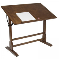 "42"" Vintage Drafting Table (Rustic Oak) (34""H x 42""W x 30""D)"