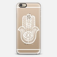 WHITE HAMSA iPhone 6 case by Katie Reed   Casetify