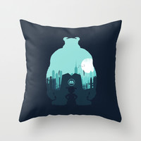 Welcome To Monsters, Inc. Throw Pillow by Filiskun