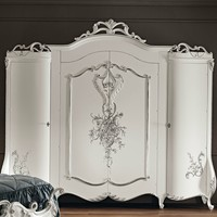 Lacquered solid wood wardrobe 11209 Villa Venezia Collection by Modenese Gastone group