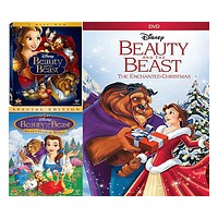 Walt Disney's Beauty & The Beast DVD Set 3 Movie Collection