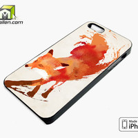 Fox Paint iPhone 5s Case Cover by Avallen