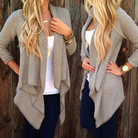 Knitted Cardigan Loose Sweater