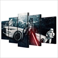 Star Wars Movie 5 piece picture painting wall art canvas